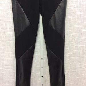 Flying Tomato Black Pant with Faux Leather Size S